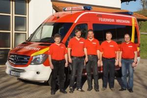 Mehrzweckfahrzeug mit Beschaffungsteam: Rupert Wimmer, Andreas Ries, Konrad Plötz, Manfred Nußbaumer, Stefan Holfelder.