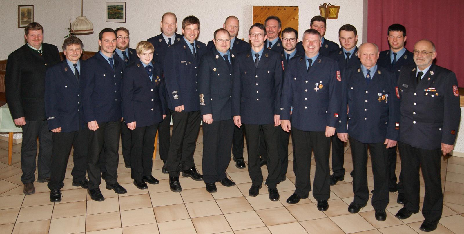 Vorstandschaft der Feuerwehr Hirschhorn