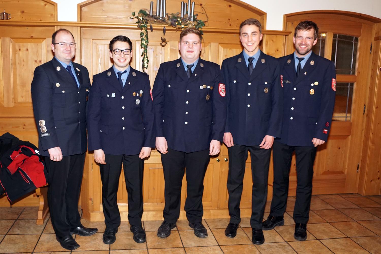 1. Kdt. Stefan Holfelder, OFM Julian Moser, FM Marcel Kink, FM Gabriel Brunner, 2. Kdt. Andreas Ries